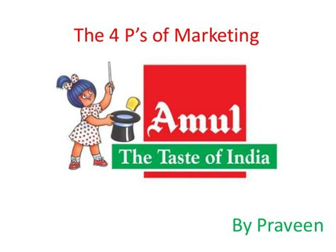 Mba Food Marketing by 4ps Of Amul Company