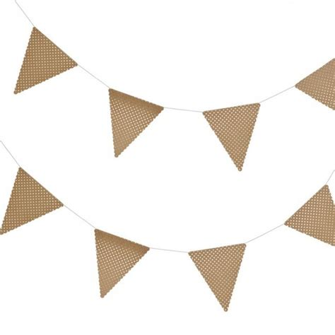 Brillante Jazzy Black Grey brown kraft gold foil polka dot bunting by