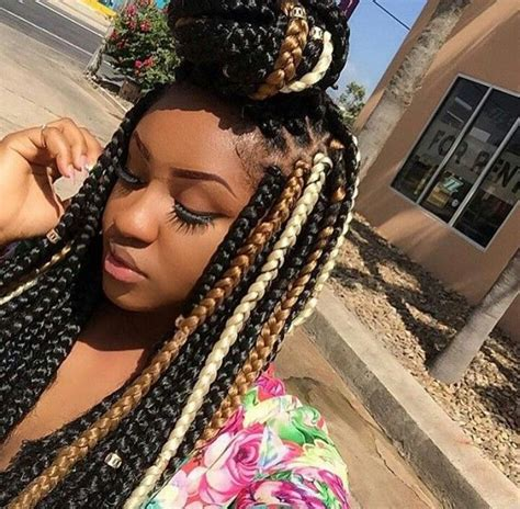 color braids 25 beautiful colored box braids ideas on