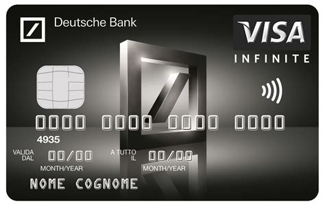 visa card deutsche bank deutsche bank lancia visa infinite la sua prima black card