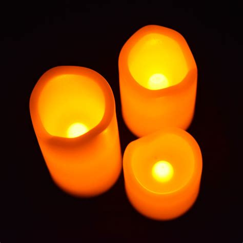 mini flameless led candle light with remote 3 pack ebay