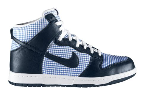 Nike Gingham Dunks From Outfitters by Nike Dunk High Premium Obsidian Lyon Blue White
