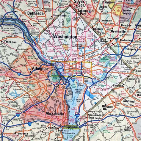 washington dc road map washington d c area roads and highways map roads and