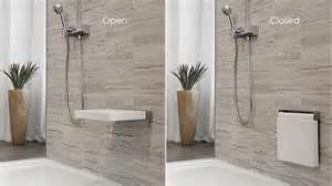 dusche mit sitz shower wall mounted seat the cube collection wetstyle