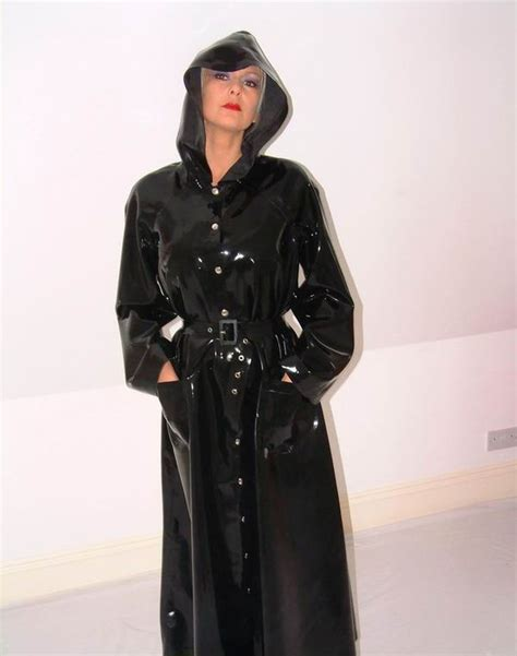 Anggun Jaket shiny black pvc raincoat pvc4fun raincoat black and pvc
