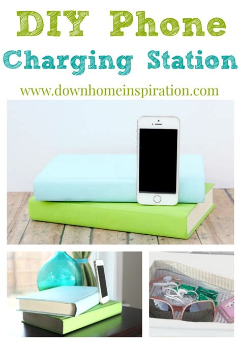 build your own charging station diy phone charging station disguised as books down home