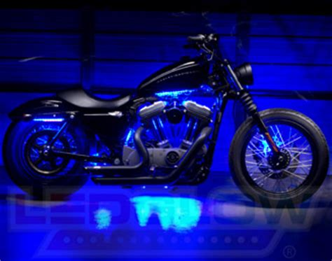 led blue lights for motorcycles motorcycle led lights by ledglow lighting