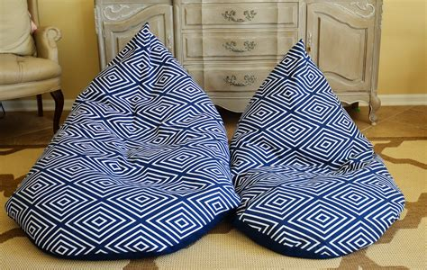 photo bean bag diy textile tuesday diy bean bag chairs slightly coastal