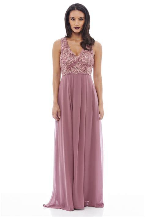 womens lace top maxi mauve dress ax paris usa fashion