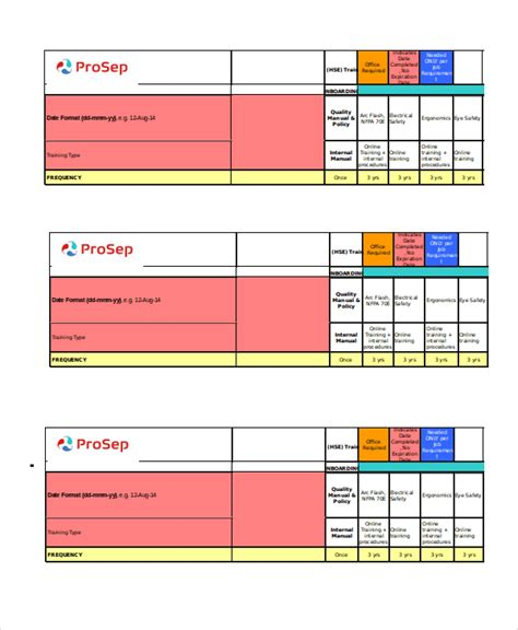Excel Matrix Template 6 Free Excel Documents Download Free Premium Templates Matrix Schedule Template