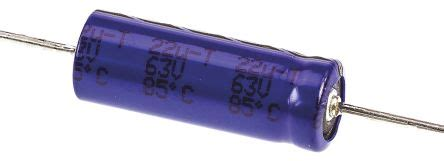 vishay electrolytic capacitor lifetime mal203138229e3 vishay aluminium electrolytic capacitor 22μf 63v dc 6 5mm through 04 031