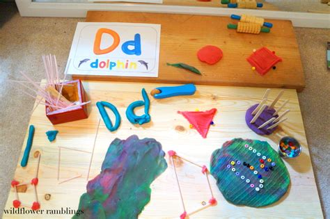 Playdough Table by Letters With Play Dough Wildflower Ramblings