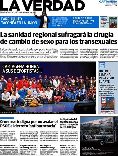 diario la verdad periodico la verdad cartagena 20 5 2016