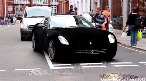 velvet ferrari ferrari wrapped in black velvet in london travel
