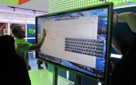 80 Inch Tv Gaming by Microsoft To Sell 80 Inch Windows 8 Touchscreen Pcs