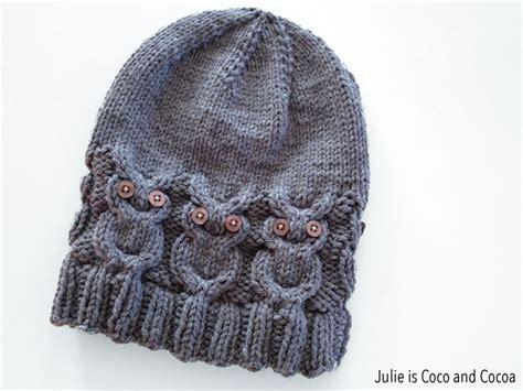 knitting pattern owl hat owl hat knit pattern julie measures