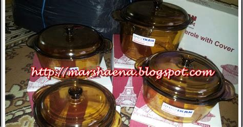 Kaca Microwave marshaena collection set mangkuk kaca 2 in 1 gt boleh