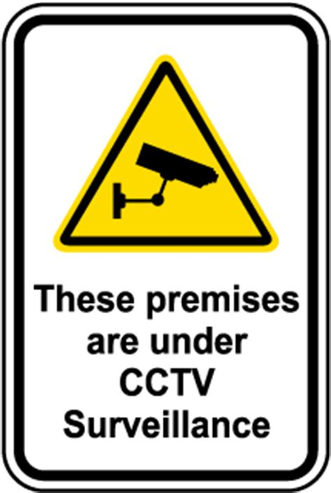 cctv signs for increased security – usa made cctv warning