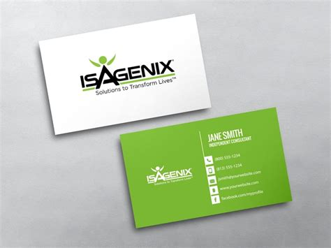Isagenix Business Card Template isagenix business cards free shipping