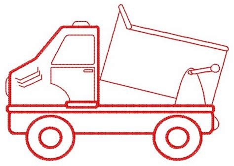 Dump Truck Color Work Embroidery by Dump Truck Embroidery Patterns Embroidery Pattern