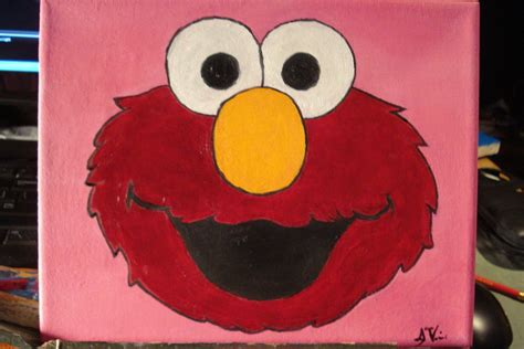painting elmo elmo 8x10 painting by soulful purple wolf on deviantart