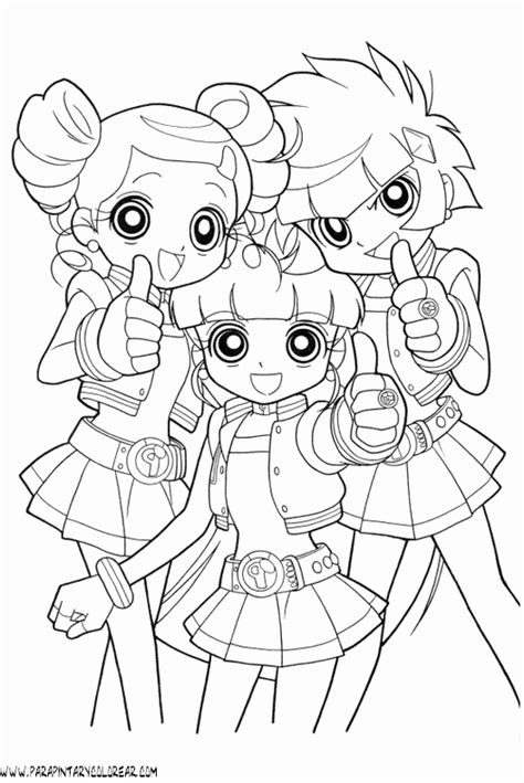 free coloring pages of powerpuff girls z blossom