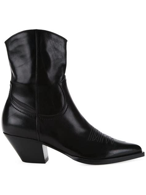 scanlan theodore cuban heel boots in black lyst