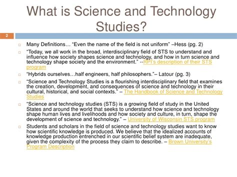 science and technology studies presentation