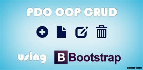 tutorial php oop crud php pdo crud tutorial using oop with bootstrap coding cage