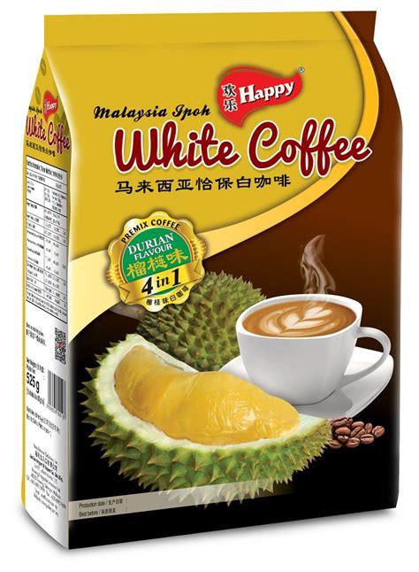 Durianwhite Cofee by שמח מותג 4 ב 1 דוריאן קפה לבן קפה נמס מספר זיהוי מוצר