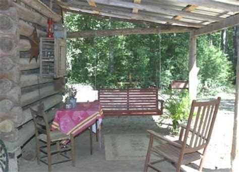 log cabin front porch swing log cabin love pinterest ethridge farm log cabin bed and breakfast kountze texas
