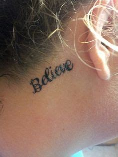 believe tattoo behind ear 1000 images about tattoo on pinterest believe tattoos