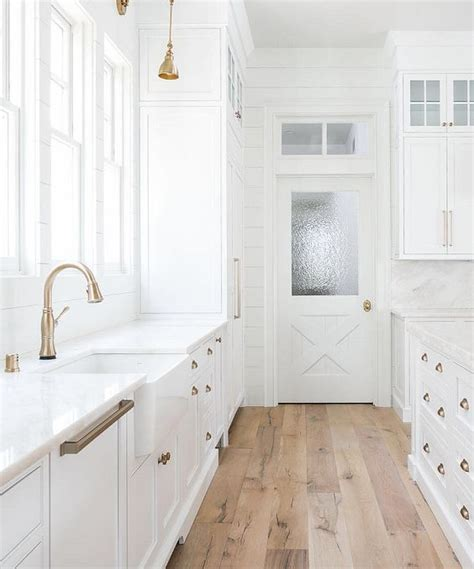 how to make your boring all white kitchen look alive wood flooring inspiration for the new house kassandra