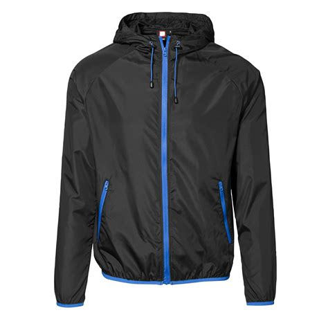 Jaket No Id id mens lightweight windbreaker jacket with packaway bag