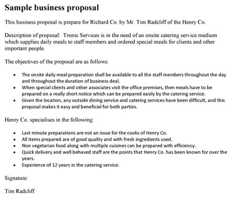 proposal format for company tie up business proposal template