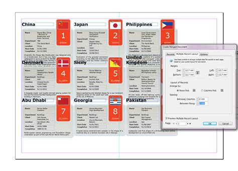 indesign layout adjustment cs6 designing and data merging with multiple records in