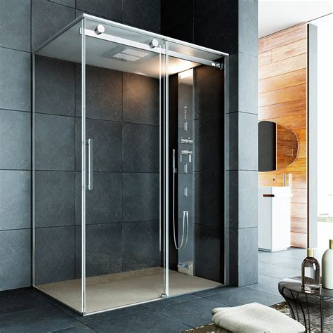 Corner Bath With Shower Enclosure noor steam s made to measure shower amp hammam space with
