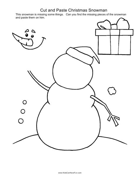 christmas coloring pages cut and paste kidscanhavefun blog kids activities crafts games
