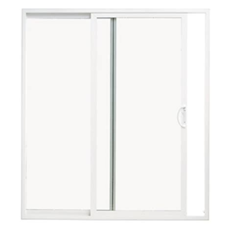 Sliding Glass Doors At Lowes Shop Thermastar By Pella 70 75 In X 79 5 In Clear Glass Reversible White Vinyl Sliding Patio