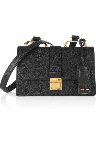Miu Miu Small Shoulder Bag by Miu Miu Madras Small Textured Leather Shoulder Bag Net