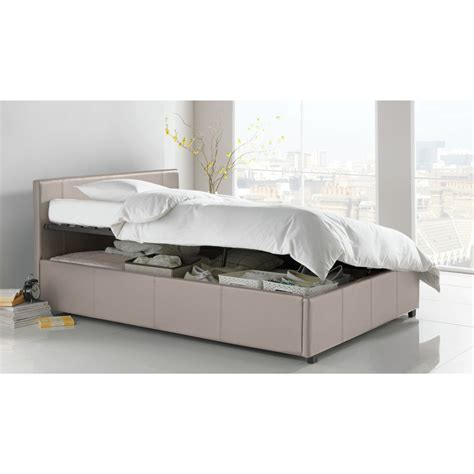 ottoman double beds hygena harcourt small double ottoman bed frame latte ebay