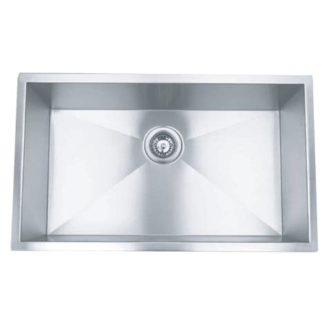 36 stainless steel zero radius undermount kitchen sink