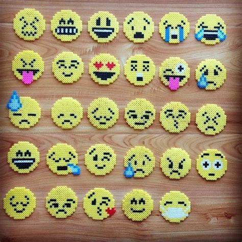cool things to make with perler perler emojis perler bead patterns