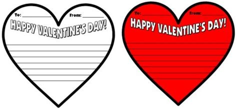 valentines day card template for s day teaching resources lesson plans for