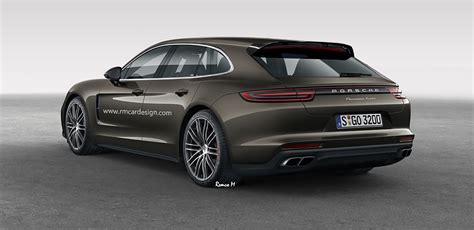 porsche sports car 2017 2017 porsche panamera sport turismo rendered photos 1 of 3