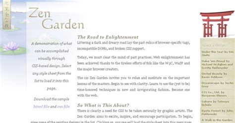 css tutorial zen garden 35 وب سایت که به شما می آموزد که چگونه از css استفاده نمایید