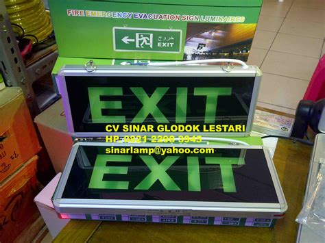 Lu Taman Led lu emergency exit lu exit led emergency evacuation sign luminaires 101