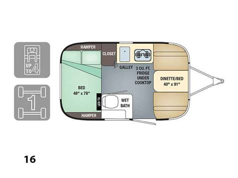 Home Floor Plan Maker 2017 New Airstream Sport 16 Travel Trailer In Ohio Oh