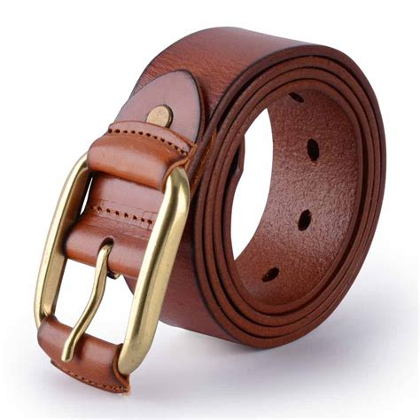 canwelum fashionable s belt brown leather belts for