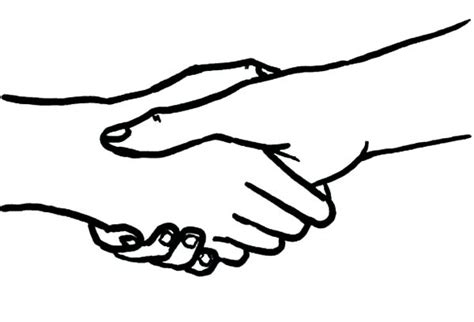 coloring page of shaking hands two hands cupped together coloring pages